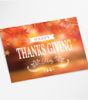 Unique Happy Thanksgiving Custom Multipurpose Postcard